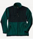 Charles River Apparel Style 8931 Youth Evolux Fleece Jacket - Forest/Black