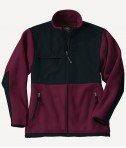 Charles River Apparel Style 8931 Youth Evolux Fleece Jacket - Maroon/Black
