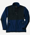 Charles River Apparel Style 8931 Youth Evolux Fleece Jacket - Navy/Black