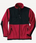 Charles River Apparel Style 8931 Youth Evolux Fleece Jacket - Red/Black