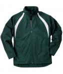 Charles River Apparel Style 8954 Youth TeamPro Jacket - Forest/White