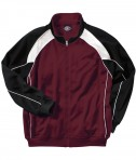 Charles River Apparel Style 8984 Boys' Olympian Jacket - Maroon/White/Black