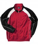 Charles River Apparel Style 8984 Boys' Olympian Jacket - Red/White/Black