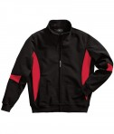Charles River Apparel Style 9024 Stadium Soft Shell Jacket - Black/Red