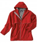 Charles River Apparel Style 9199 Men's New Englander Rain Jacket - Red/Grey