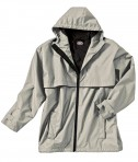 Charles River Apparel Style 9199 Men's New Englander Rain Jacket - Taupe/Navy