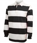 Charles River Apparel Style 9278 Classic Rugby Shirt - Black/White