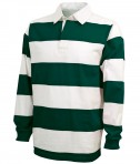 Charles River Apparel Style 9278 Classic Rugby Shirt - Forest/White