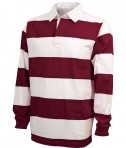 Charles River Apparel Style 9278 Classic Rugby Shirt - Maroon/White