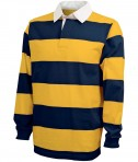 Charles River Apparel Style 9278 Classic Rugby Shirt - Navy/Gold