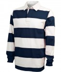 Charles River Apparel Style 9278 Classic Rugby Shirt - Navy/White