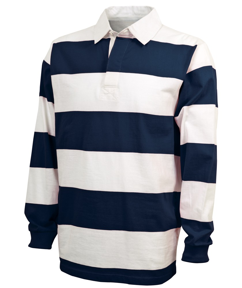 Charles River Arel Style 9278 Clic Rugby Shirt Navy White