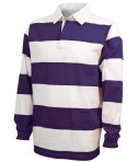 Charles River Apparel Style 9278 Classic Rugby Shirt - Purple/White