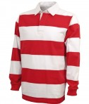 Charles River Apparel Style 9278 Classic Rugby Shirt - Red/White