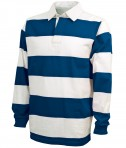 Charles River Apparel Style 9278 Classic Rugby Shirt - Royal/White
