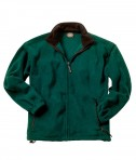 Charles River Apparel Style 9502 Men's Voyager Fleece Jacket - Forest/Black