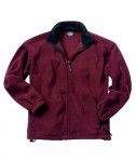 Charles River Apparel Style 9502 Men's Voyager Fleece Jacket - Maroon/Black