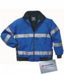 Charles River Apparel Style 9732 Signal Hi-Vis Jacket - Royal/Black