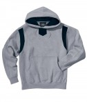 Charles River Apparel Style 9755 Spirit Logo Hooded Sweatshirt - Oxford/Black