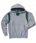 Charles River Apparel Style 9755 Spirit Logo Hooded Sweatshirt - Oxford/Forest