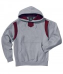 Charles River Apparel Style 9755 Spirit Logo Hooded Sweatshirt - Oxford/Maroon