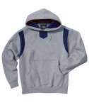 Charles River Apparel Style 9755 Spirit Logo Hooded Sweatshirt - Oxford/Navy