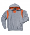 Charles River Apparel Style 9755 Spirit Logo Hooded Sweatshirt - Oxford/Orange