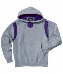 Charles River Apparel Style 9755 Spirit Logo Hooded Sweatshirt - Oxford/Purple