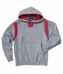 Charles River Apparel Style 9755 Spirit Logo Hooded Sweatshirt - Oxford/Red