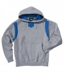 Charles River Apparel Style 9755 Spirit Logo Hooded Sweatshirt - Oxford/Royal