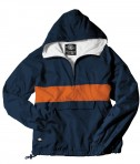 Charles River Apparel Style 9908 Classic Charles River Striped Pullover - Navy/Orange