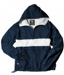 Charles River Apparel Style 9908 Classic Charles River Striped Pullover - Navy/White