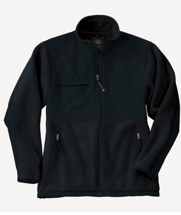 Charles River Apparel Style 9931 Men's Evolux Fleece Jacket - Black/Black