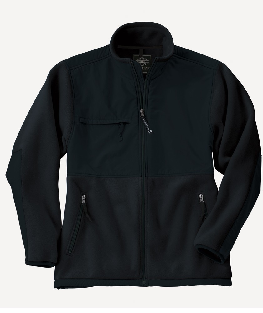 Charles River Apparel Style 9931 Men's Evolux Fleece Jacket – Black/Black