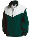 Charles River Apparel Style 9971 Championship Jacket - Forest/White