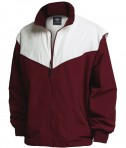 Charles River Apparel Style 9971 Championship Jacket - Maroon/White
