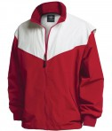 Charles River Apparel Style 9971 Championship Jacket - Red/White