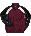 Charles River Apparel Style 9984 Men's Olympian Jacket - Maroon/White/Black