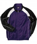 Charles River Apparel Style 9984 Men's Olympian Jacket - Purple/White/Black