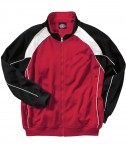 Charles River Apparel Style 9984 Men's Olympian Jacket - Red/White/Black