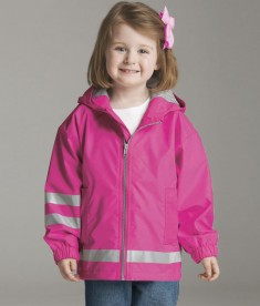 Charles River Apparel 6099 Toddler New Englander Rain Jacket - Hot Pink/Reflective Model