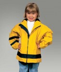 Charles River Apparel 6099 Toddler New Englander Rain Jacket - Yellow/Navy Model