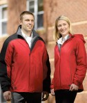 Charles River Apparel 5864 Women's Alpine Parka Matching His Hers Red