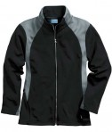 Charles River Apparel 5077 Women's Hexsport Bonded Athletic Jacket - Black/Grey