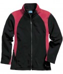 Charles River Apparel 5077 Women's Hexsport Bonded Athletic Jacket - Red/Black