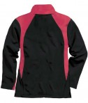 Charles River Apparel 5077 Women's Hexsport Bonded Athletic Jacket - Red/Black Back