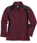 Charles River Apparel 5077 Women's Hexsport Bonded Athletic Jacket - Maroon/Black
