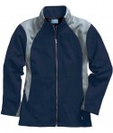 Charles River Apparel 5077 Women's Hexsport Bonded Athletic Jacket - Navy/Grey