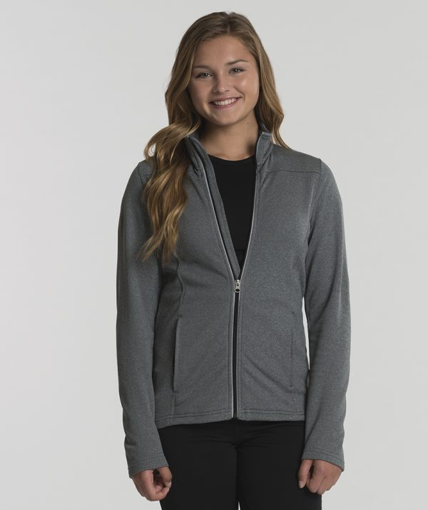 Charles River Apprael 5682 Womens Cambridge Jacket Heather Grey