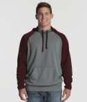 Charles River Apparel 9690 Field Long Sleeve Sweatshirt Maroon Heather